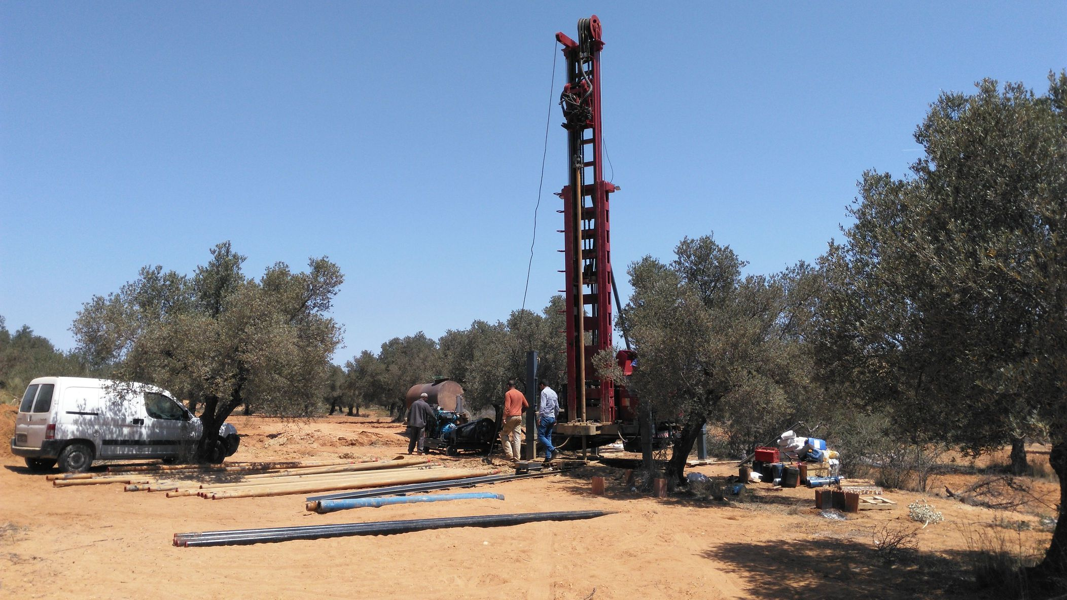 drilling of forward r4 water well drilling rigs in tunisia