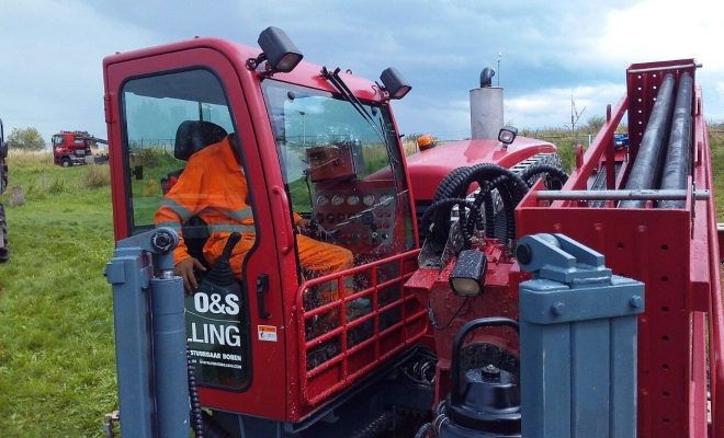 Pilot drilling for the fiber-optic cable in Netherlands