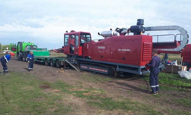 First drilling of FORWARD RX80x400 in Russia